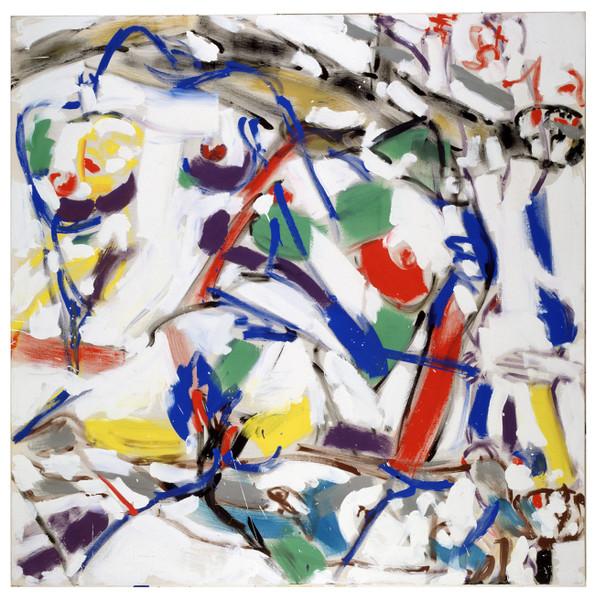 Revolving Painting III, 1994, Pigment:Lwd., 200 x 200 cm