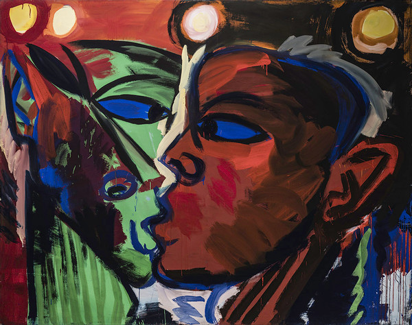 Rainer Fetting, The Kiss_1981