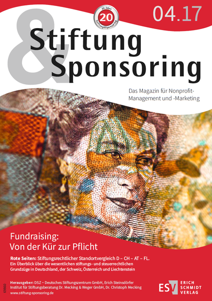 Magazin Stiftung&Sponsoring, 4/2017 – Cover