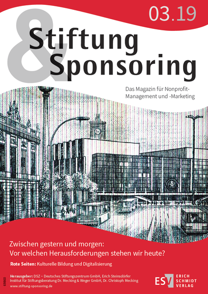 Stiftung&Sponsoring 3/19 - Cover