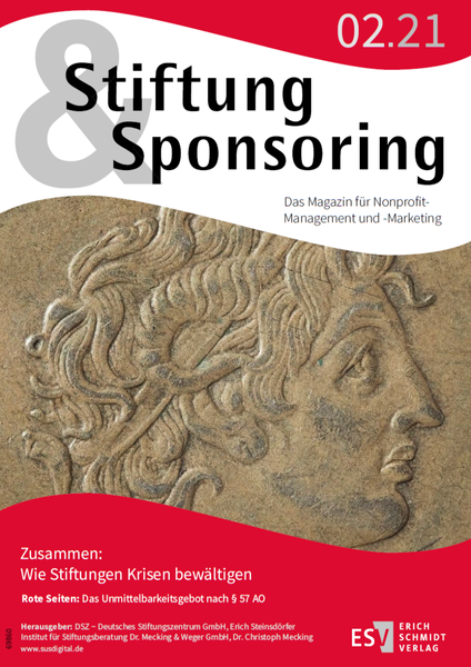 Stiftung&Sponsoring 2/21 - Cover