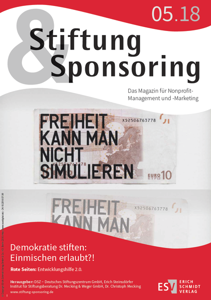 Stiftung&Sponsoring, 05/2018 - Cover