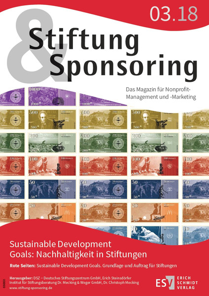 Stiftung&Sponsoring - Heft 3/2018 - Cover