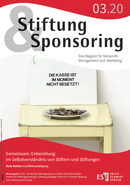 Cover des Magazins Stiftung&Sponsoring 3/2020