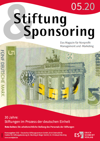 Stiftung&Sponsoring 05/2020 - Cover