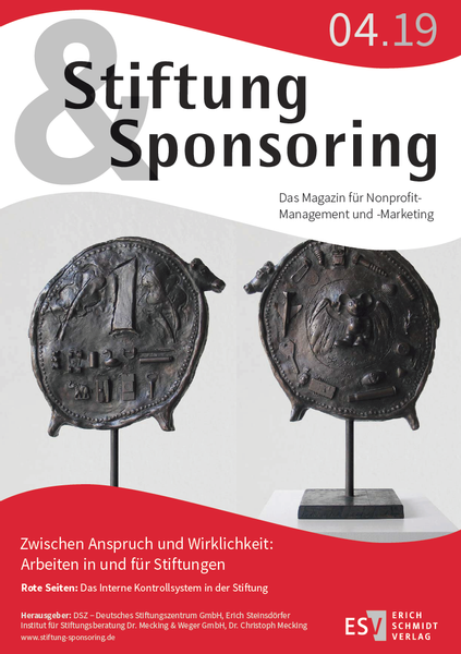 Cover Stiftung&Sponsoring, 04/2019