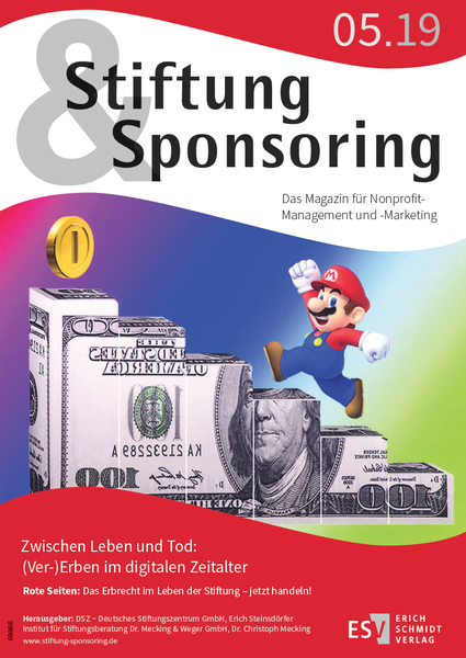 Stiftung & Sponsoring 5/2019, Cover
