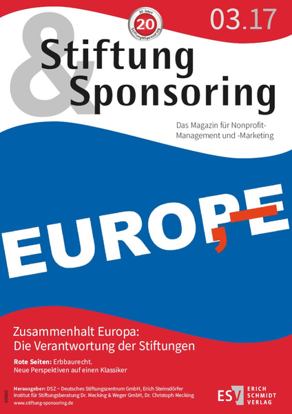 Stiftung&Sponsoring, 03/2017 - Cover