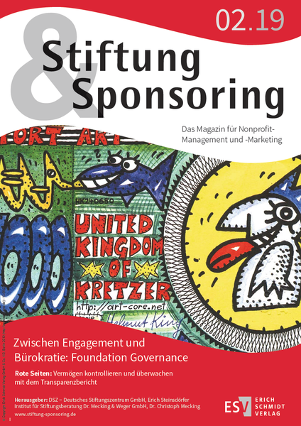 Cover Stiftung&Sponsoring 02/2019