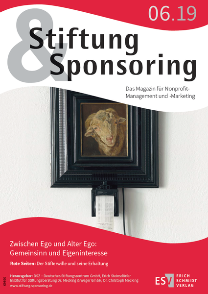 Stiftung&Sponsoring, 06/2019, Cover