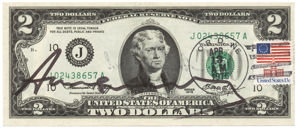 Andy Warhol - Two Dollar Jefferson (1976)