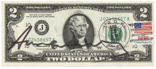 Andy Warhol - Two Dollar Jefferson (1976)