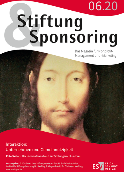 Stiftung&Sponsoring, 6/2020 - Cover