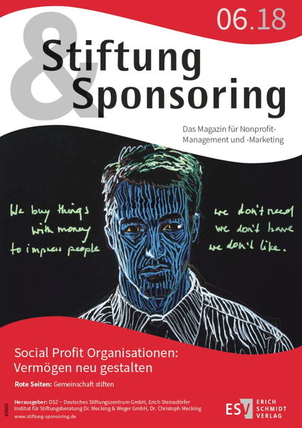 Cover Stiftung&Sponsoring 6/2018