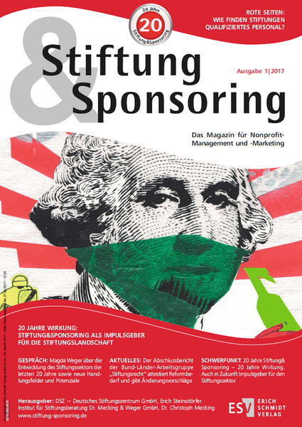 Stiftung&Sponsoring, 1/2017 (Februar) - Cover