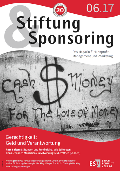 ​Stiftung&Sponsoring 6/2017, Cover