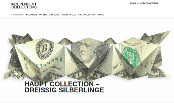 Sammlung Haupt bei Independent Collectors - Screenshot