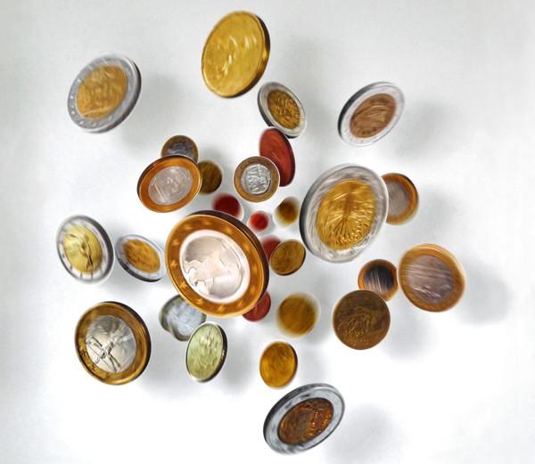 Thomas Eller: THE bounty (Euro), 2012, FujiFlex auf Dibond, Metallhalterungen, ca. 220 × 220 × 50 cm, Foto: Thomas Eller, Berlin