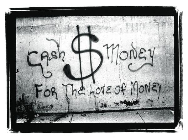 Jerry Berndt: Chicago Graffiti, 1975, Silbergelatineabzug von der Hand des Künstlers (2009) auf mit Selen getöntem Papier, 30 × 40 cm © Jerry Berndt