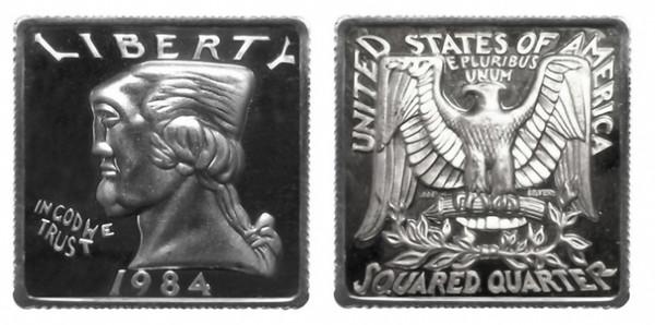 Orand Andor: Large Squared Quarter,1983/84, 999er Silber, 2,54 × 2,54 cm - Foto: Hermann Büchner