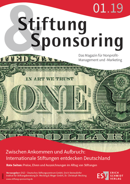 Cover Stiftung&Sponsoring 01/2019