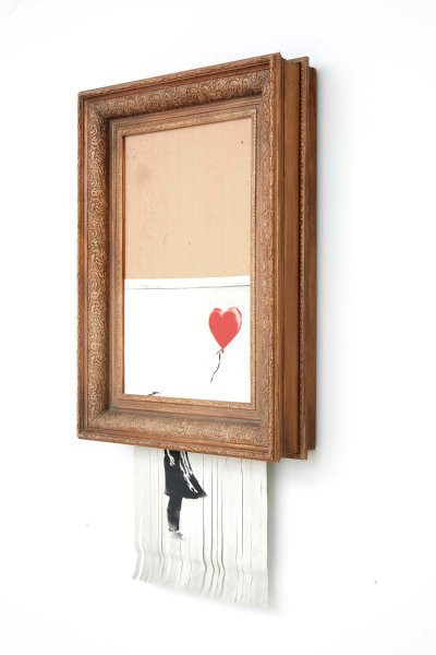 Banksy, Girl With Balloon / Love is in the Bin