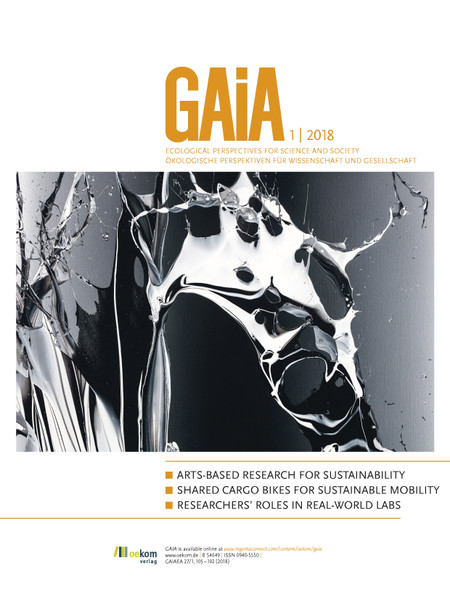 GAIA – Ecological Perspectives for Science and Society, 1/2018