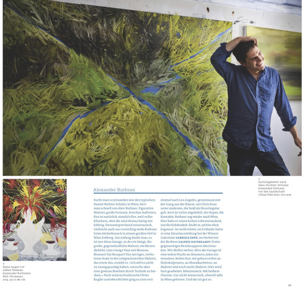 Alex Ruthner in art - Das Kunstmagazin