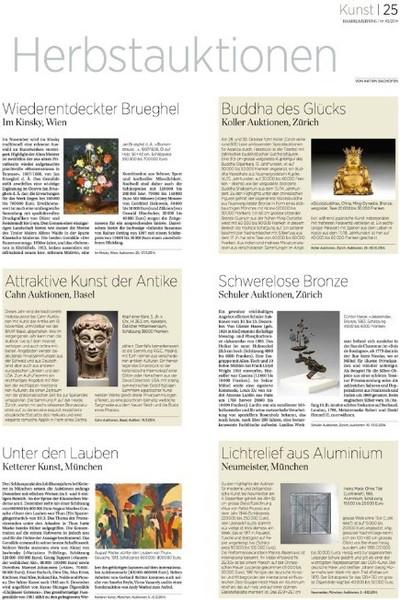 Handelszeitung 2014_Herbstauktionen