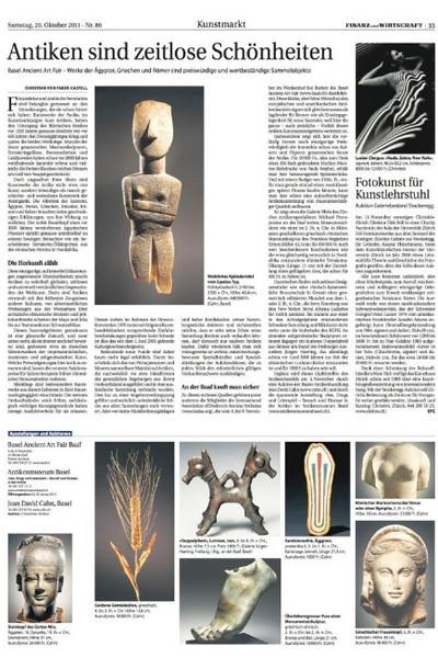 Finanz und Wirtschaft 2011_Antiken sind zeitlose Schönheiten