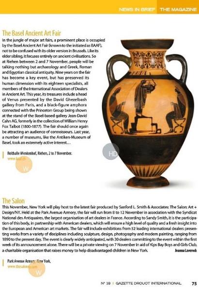 Gazette Drouot International 2012_The Basel Ancient Art Fair