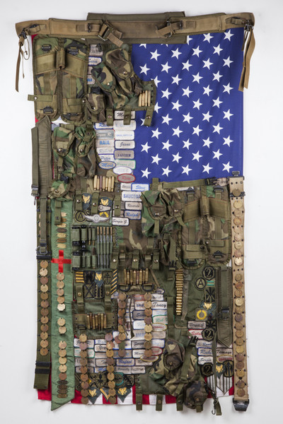 SR_Flag#12_Land of opportunity_mixed media_66x38 inches_2008-2013