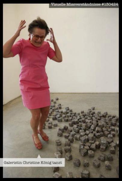 "Visual Misunderstandings #130424, ""Galerist Christine König dancing"", 2013, Foto: eSeL"