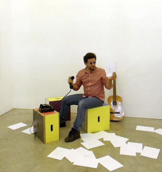 """Michele Robecchi: 5 Minuten Performance """"art by telephone (after Walter De Maria)"""""""