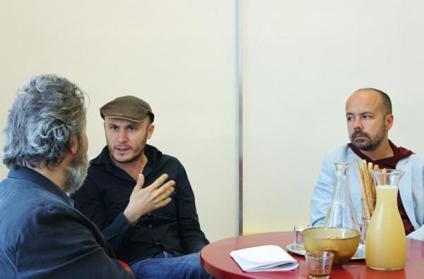 from the series CONVERSATIONS: Hans Hurch (Director Viennale 1997 - 2017), Ovidiu Anton & Alexandru Balasecu, June 2016