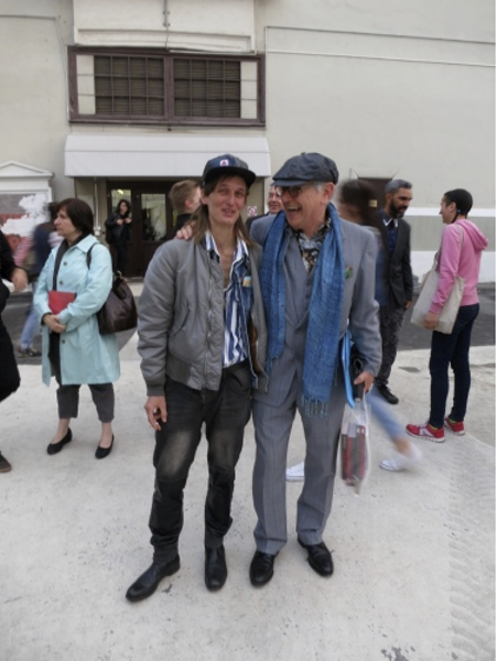 Toni Schmale with David Elliott, Moscow International Biennale for Young Art, June 2014
