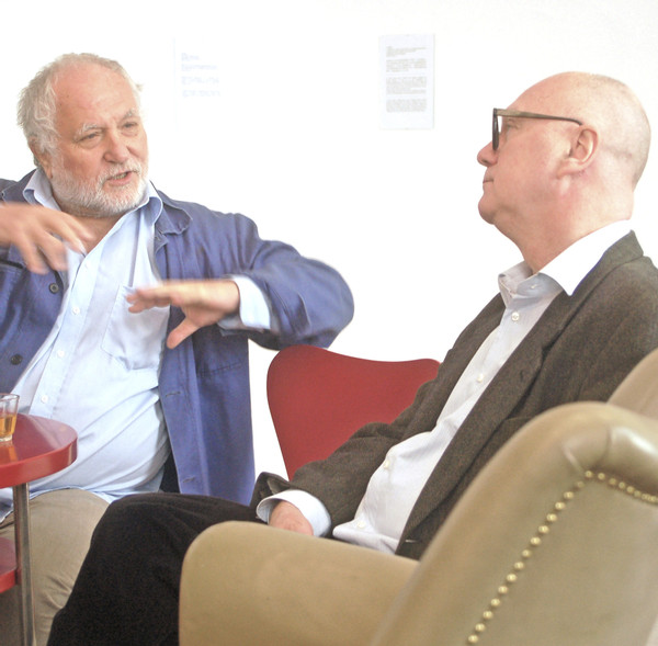 "from the series CONVERSATIONS: ""Aesthetics as a Revolt"", Jan Tabor & Franz Koglmann, 2010"