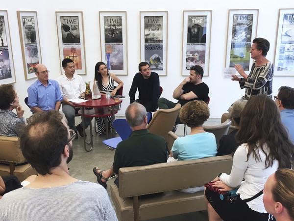 from the series CONVERSATIONS: CLIMATE CHANGE Robert Lempert, Wei Liu, Alison Heslin, Christopher Yggdre & Radenko Milak, June 2018