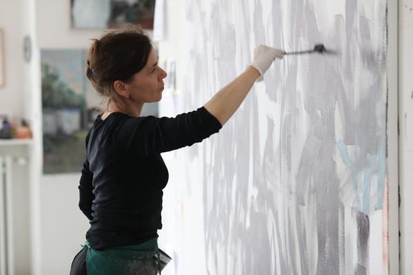 Sabine Moritz at her Studio, Cologne 2021 © Ralph Mecke