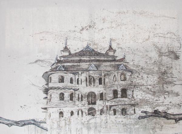 8.Mercedeshaus I, 2020,140 x 180 cm, Acryl:Öl auf Lwd