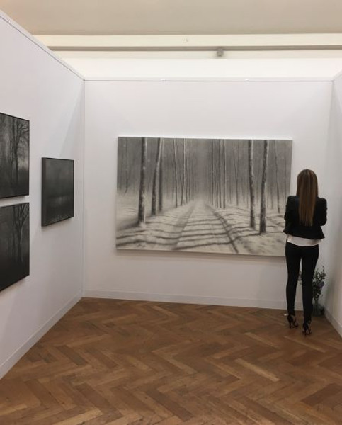 Heckenhauer gallery with Danja Akulin at the Art on Paper fair Brussels, 2018.