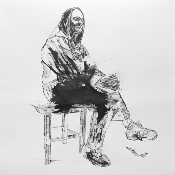 2019_ChristianBazant-Hegemark__Man__150x150cm__Ink on paper