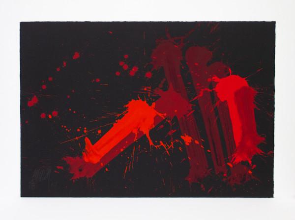 Markus Prachensky | Cinque Terre |2003 | Acryl auf Papier | 53 x 76 cm