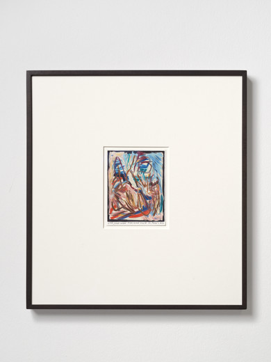 Rinus Van de Velde, Stop, stop now..., color pencil on paper, framed, 2019, 15.60 x 12.10 cm, unique
