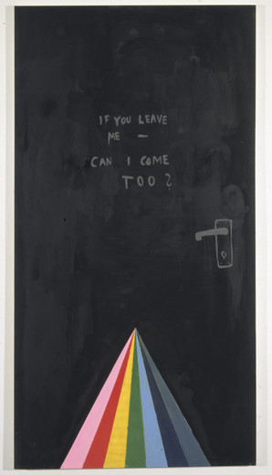 Friedrich Kunath, Untitled, Acrylic and Metalic paint on linen, 2003, 84.25 x 44.26 in
