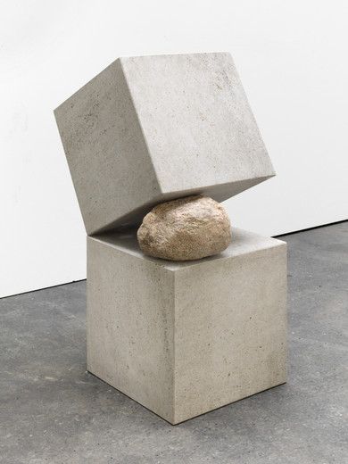 Jose  Dávila, Untitled, stone volumes, boulder, 2016, 100 x 40 x 60 cm, unique
