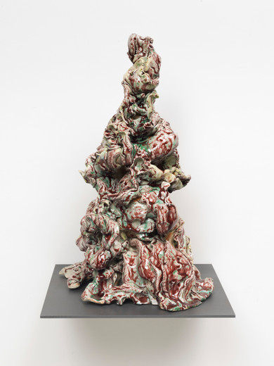 David Zink Yi, Untitled (Under Pressure), ceramic, 2019, 50 x 27 x 35 cm, unique