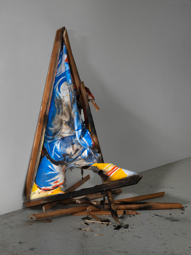 Norbert Bisky, Untitled (Franz Marc), various materials, 2017, 190 x 130 x 80 cm, unique