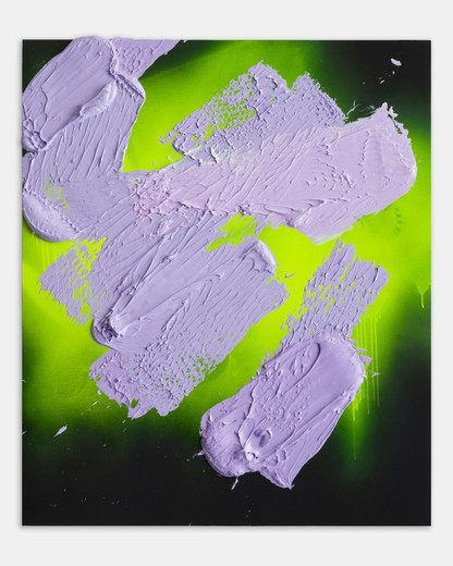 Anselm Reyle, Untitled, mixed media on canvas, 2019, 135 x 115 x 5 cm, unique