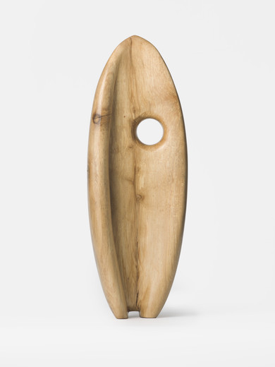 Claudia Comte, The Phytoplancton, sculpture: Buxus wood; plinth: spruce, 2018, ca. 54.50 x 19 x 13 cm, unique
